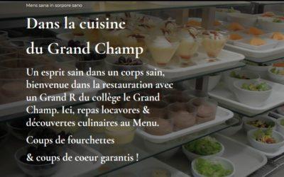 Ouverture d'une page pour découvrir la cuisine du Grand Champ