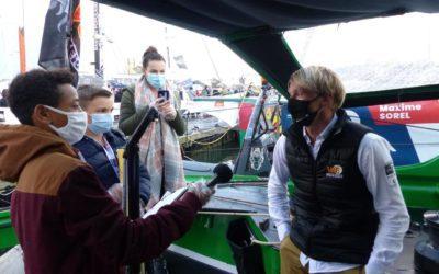 Nos jeunes reporters à la rencontre du navigateur Maxime Sorel